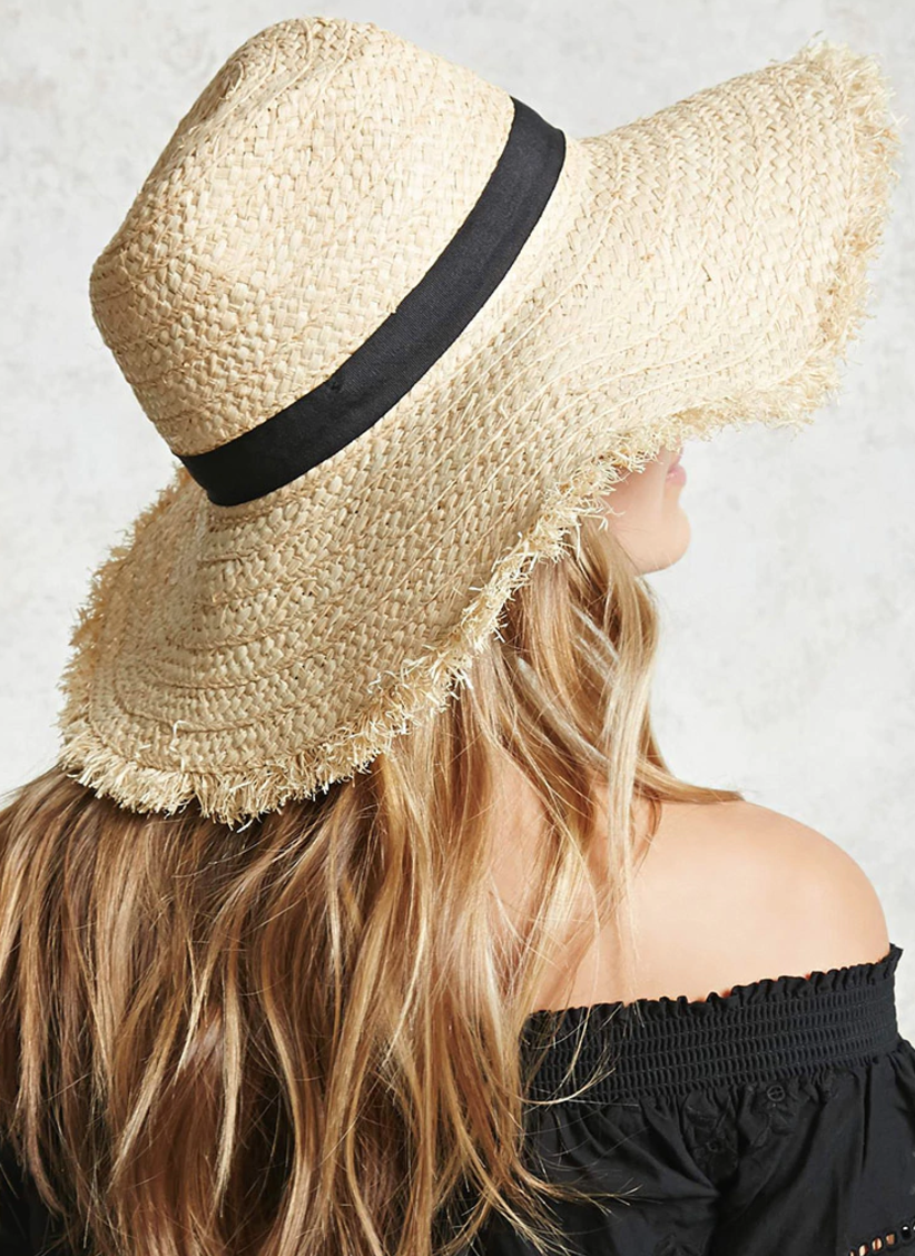 Braided Straw Floppy Fedora